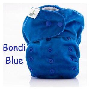 Wasbare luier bondi blue blauw - met inlegger - basics all-in two - one size