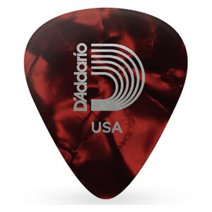 1CRP4-10 red pearl celluloid plectra 10 pack medium