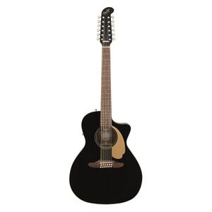 Villager 12-String V3 Jetty Black E/A gitaar