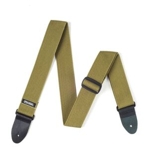 D27-01OL Ribbed Cotton Strap Olive Green gitaarband