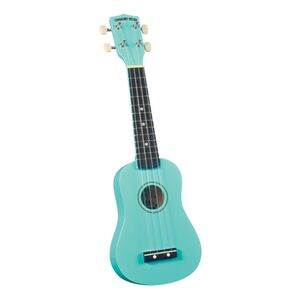 DU-116 Rainbow sopraan ukulele turquoise met gigbag