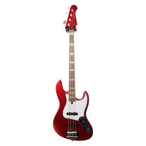 Skyline 44-60 Custom Candy Apple Red Laurel Fingerboard elektrische basgitaar