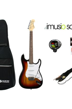 FST118SB imusic-school elektrische gitaar set + muziekles (Frans)