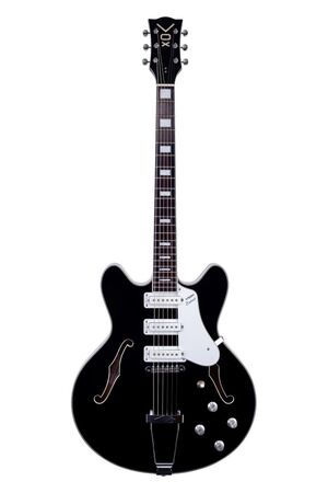 Bobcat S66 semi-hollow body semi-akoestische gitaar (zwart)