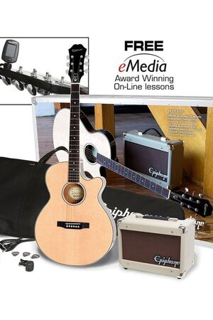 PR-4E Acoustic Electric Player Pack Natural starterset