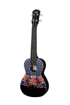 PUC-30-011 polycarbonaat uke Black with Red Star