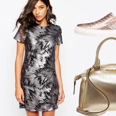 Metallic-Look Kleider, Schuhe, Blazer & Taschen – jetzt strahlt es!