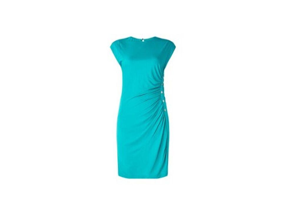 Kimi mini jurk met plooidetails en sierknopen
