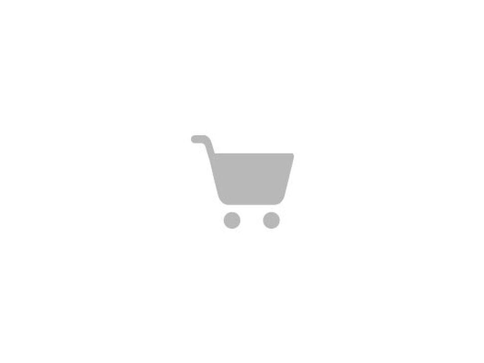 Lexini mini jurk met volantmouw en bladprint